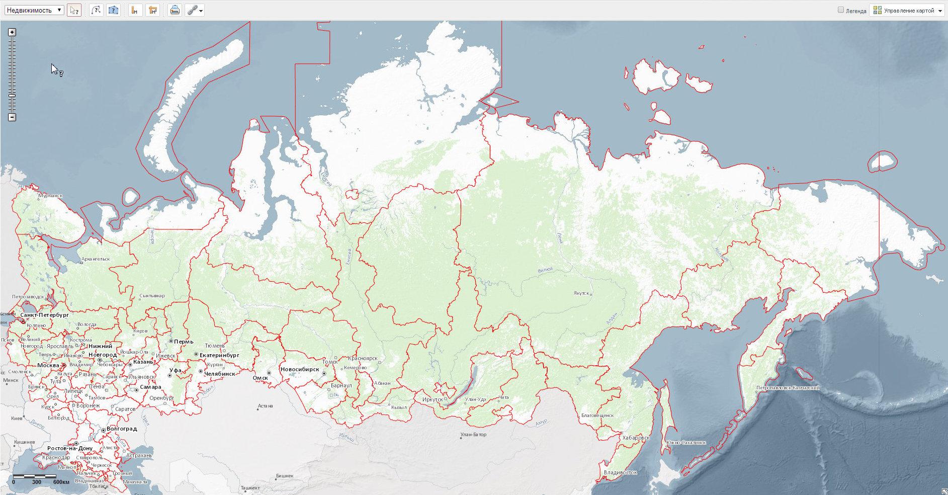 карта межевания росреестр